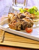 Mixed meat kebab