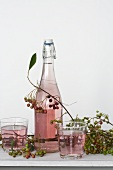 Chokeberry juice (aronia syrup wit mineral water)