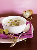 Grape and almond soup