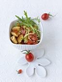 Ricotta gnocchi with tomato and tarragon vinaigrette