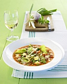 Minestrone con il riso (Vegetable soup with rice, Italy)