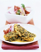 Quorn fillets with herb marinade