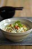 Laksa (Prawn and noodle soup, Singapore)
