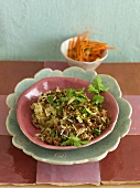 Minced lamb with rice, dates, pistachios and parsley