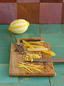 Lemon peel cut into strips and diced