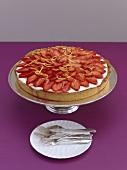 A strawberry quark tart