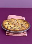 A cherry marzipan tart
