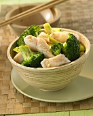 Scorpion fish with broccoli