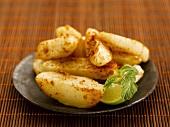 Fried potato wedges (India)