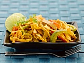 Chapati noodles with vegetables (India)