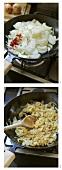 Making onion relish