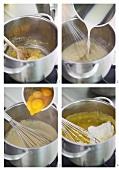 Making cheese soufflé
