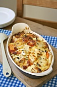 Vegetable gratin in a baking dish