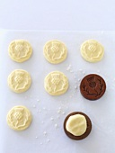 Shortbread formed with a wooden mould