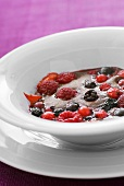A dish of berry gratin