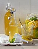 Orange liqueur with lemon balm