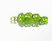 Molecular cuisine: mint spheres