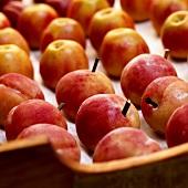 Marzipan-Pfirsiche und -Äpfel