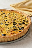 Courgette and bacon quiche
