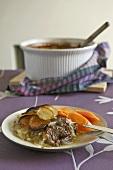 Lancashire hotpot (Lamb and potato casserole, England)