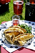 Cornish pasties (Meat and potato pasties)