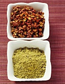 Sansho (Japanese pepper) and Sichuan pepper