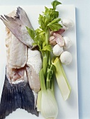 Ingredients for fish stock