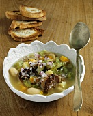 Ribollita (Vegetable soup with toast, Italy)