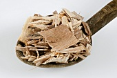 Soap bark (Panama bark) on a wooden spoon