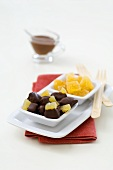 Crystallised ginger and chocolates