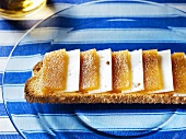 Manchego cheese and quince jelly on toasted bread