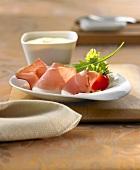 Air-dried ham with aioli