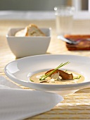 Cep and white wine soup with Parmesan