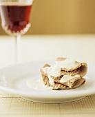 Vitello tonnato with a glass of wine