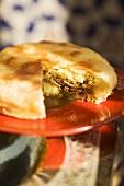 Pastilla with lamb and sweet potato filling (Morocco)