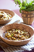 Harira with chick-peas and lamb (Moroccan soup)