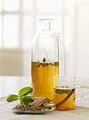 Herbal tea with ginger, cinnamon and cardamom
