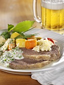Viennese boiled beef with apple horseradish, chive sauce
