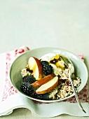 Bircher muesli with blackberries