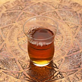 A glass of Turkish tea