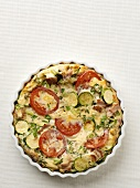 A courgette and tomato quiche