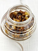 Mincemeat in a preserving jar (UK)