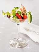 Lobster salad with grapefruit, avocado & coriander in a glass
