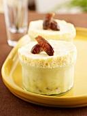 Vanilla parfait with dates
