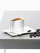 Caffè corretto (Espresso with grappa, Italy)