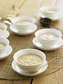 Jasmine cream in several bowls