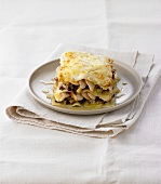 Aubergine and chicken lasagne
