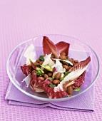 Borlotti bean salad with pecorino and radicchio
