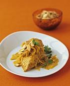 Chicken korma (Chicken in yoghurt sauce with nuts, India)