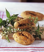 Home-made herb rolls